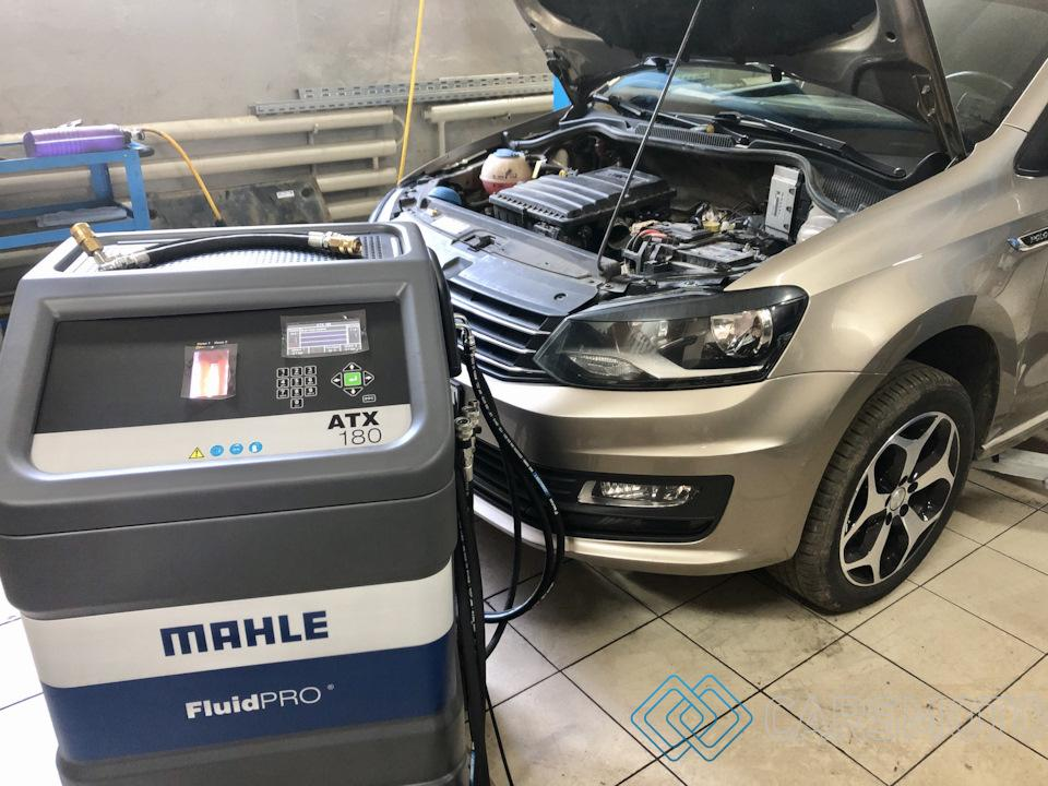 замена масла в АКПП VW Polo