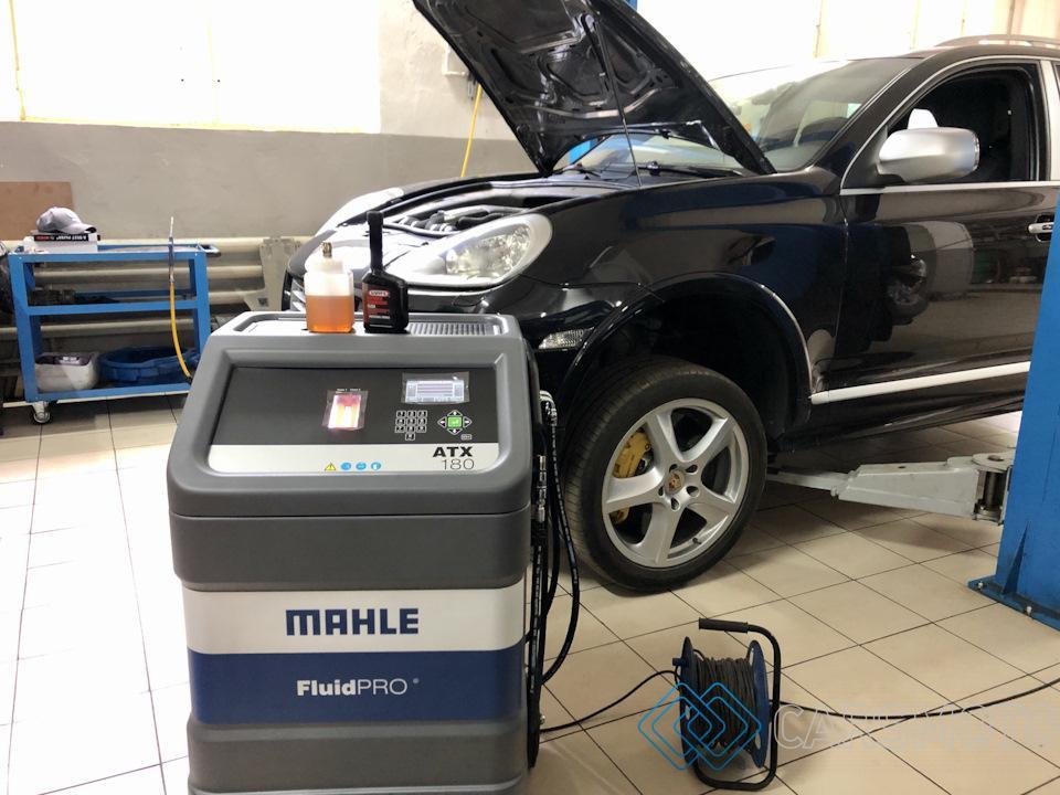 замена масла в АКПП Porsche Cayenne 955 09D