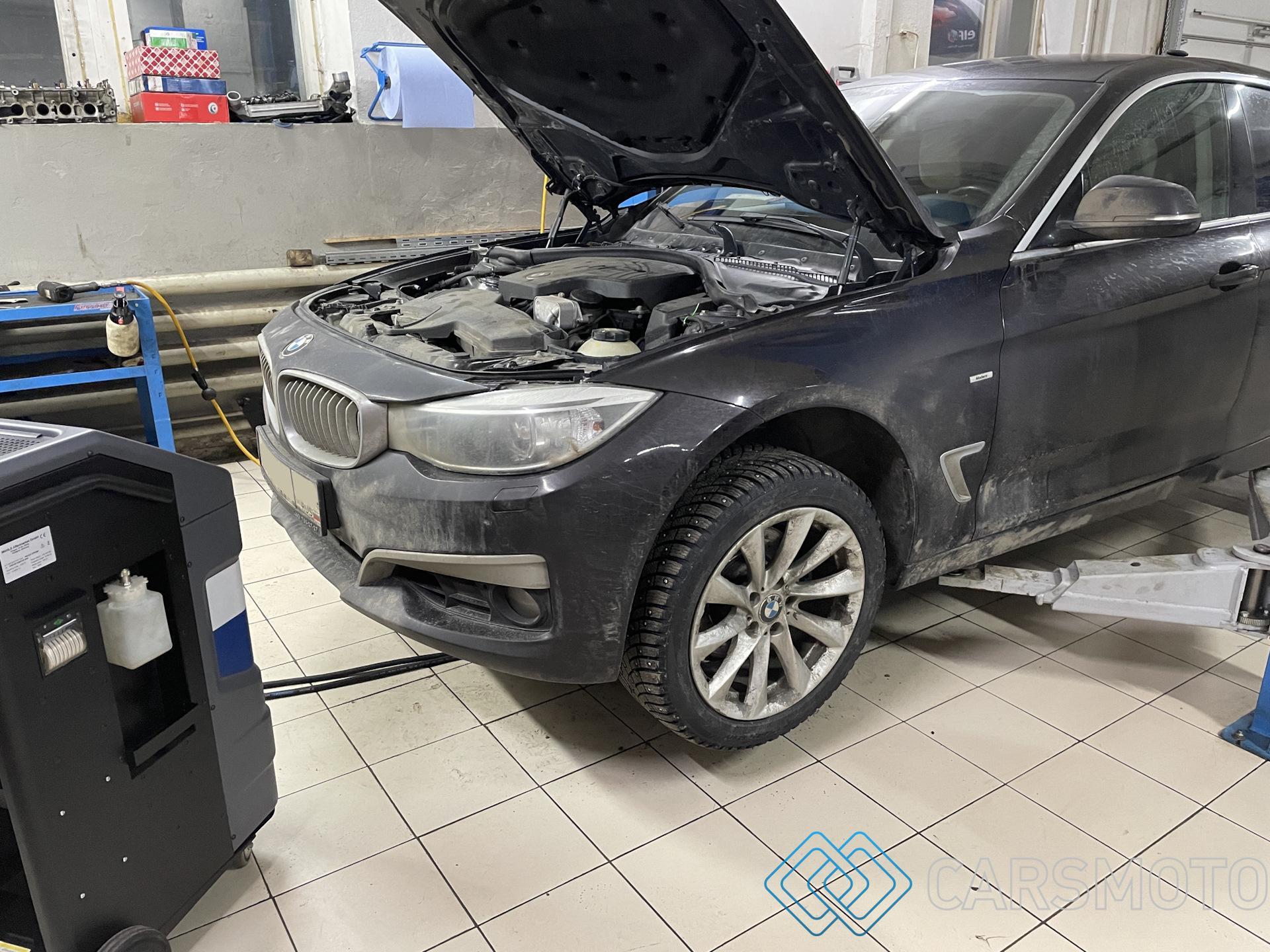 Полная аппаратная замена масла АКПП BMW 328 iX F34 GT GA8HP45Z